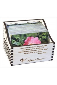 Affirm a Flower cards complete set with wooden box
